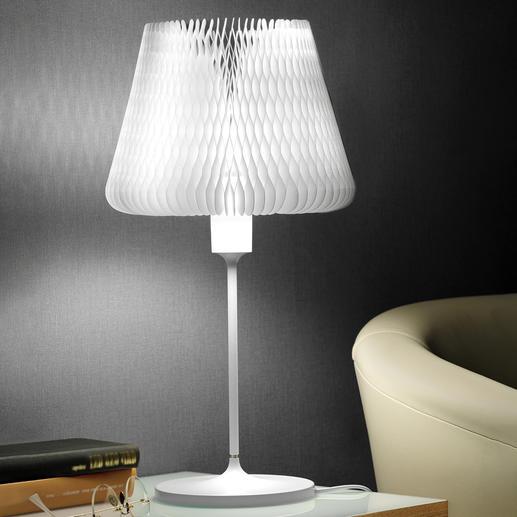 Tischleuchte mit variablem Lampenschirm Eine Tischleuchte – 12 verschiedene Looks. In ausgezeichnetem Design.