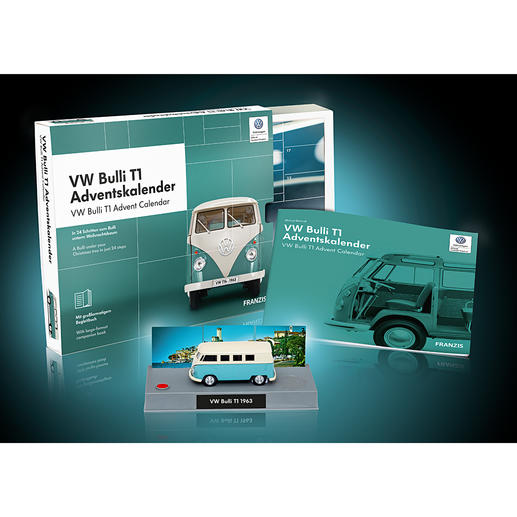 Adventskalender Bausatz VWBulliT1 Der legendäre VW Bulli T1 – als Bausatz im Adventskalender.