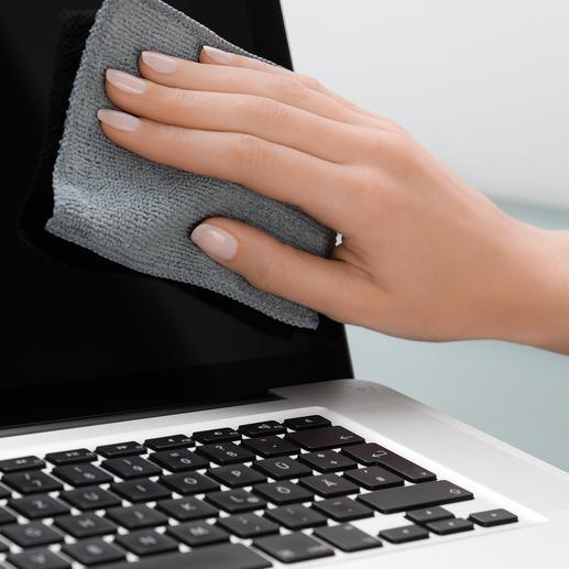 Antibakterielle Touchscreen-Tücher, 5er-Set Befreit Ihre Touchscreens mit einem Wisch von Schmutz, Schmierfilm und Keimen.