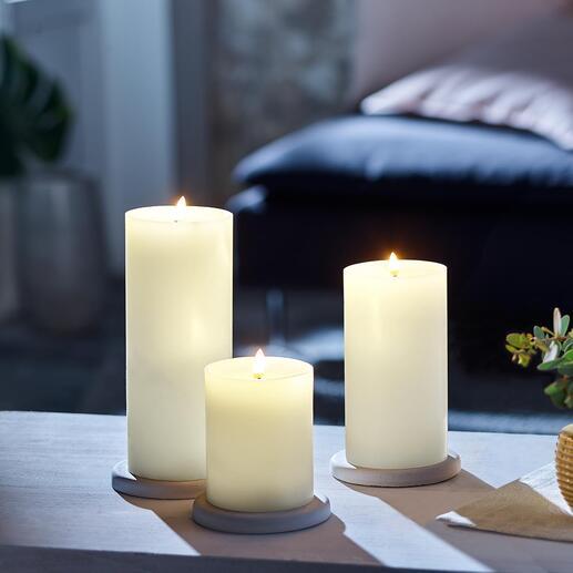 UYUNILightingLED-Kerze Die neue Generation LED-Kerzen:  aus echtem Kerzenwachs mit naturgetreu dreidimensionaler Flamme und realistischem Flackern.