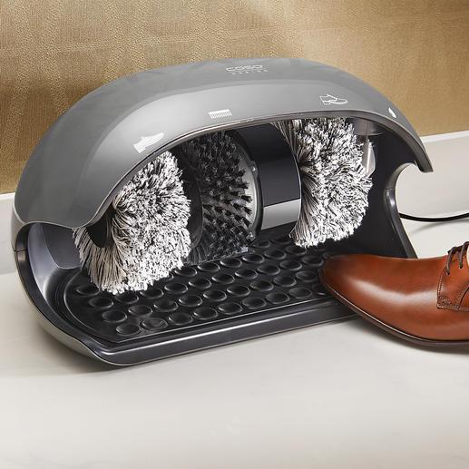 Caso Schuhputz-maschine Jeden Tag: saubere Schuhe wie von Hand gepflegt. In Sekunden.