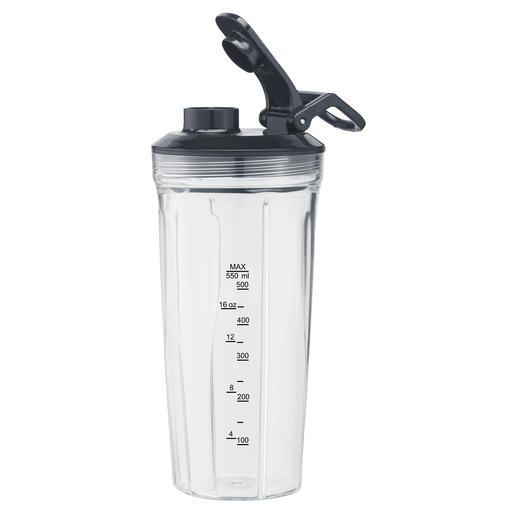 550-ml-Mixeraufsatz (16.000 U/min) aus Tritan mit passendem Trinkdeckel für Smoothies, Suppen, Shakes, Mahlen von Nüssen oder Backzutaten ...