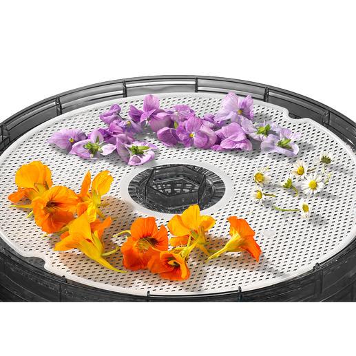 Auf der mitgelieferten Kräutermatte können Sie Kräuter und Blüten schonend trocknen.