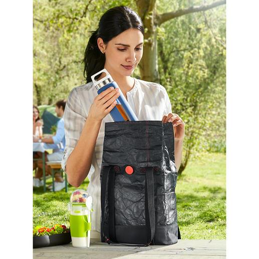 2-in-1-Lunchbag Die geniale 2-in-1-Lunchbag: aussen stylish. Innen isoliert.