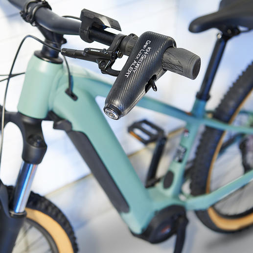 Doppelter Diebstahlschutz für Zweiräder. Doppelter Diebstahlschutz für Zweiräder. Die Wegfahrsperre mit 120 dB lautem Alarmton.