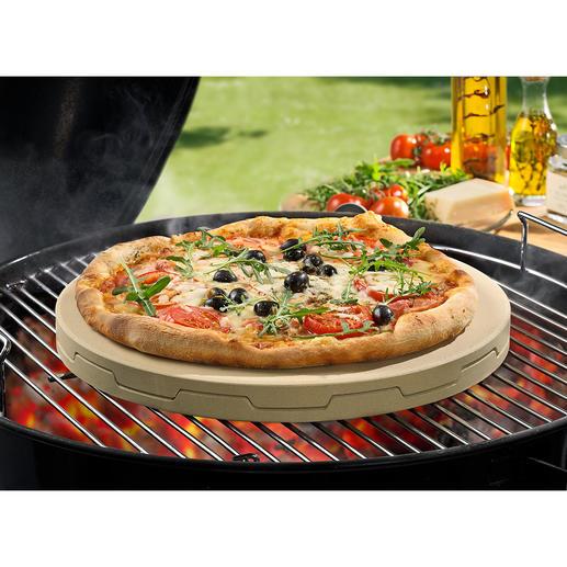 Doppelter Pizzastein Backt Steinofen-Pizza unübertroffen gleichmässig und zart knusprig.