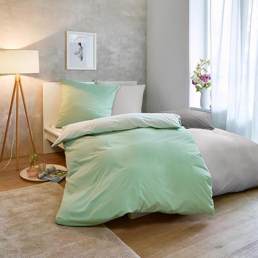 Sommer-Bettwäsche, 160 x 210 cm Nur ein Hauch auf der Haut: sommerleichte, bi-color Wendebettwäsche aus reiner Baumwolle.