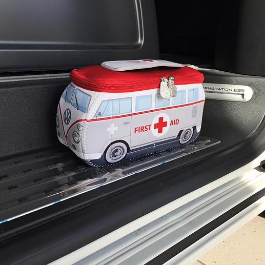 VW-Erste Hilfe Set Früher Kult-Bus. Heute Erste-Hilfe-Box im trendigen VW-Design.