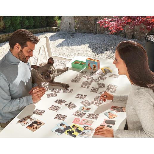 Memo-Spiel Endlich ein Memo-Spiel, das die Ähnlichkeit von Mensch und Hund zum Thema macht.