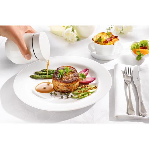 Thermo-Sauciere Doppelwandiges Fine Bone China hält Ihre Saucen länger heiss. Elegante Thermo-Sauciere von ASA Selection.