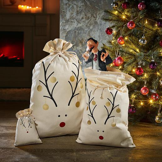 Rentier-Beutel Nachhaltig, zeitsparend, originell: die Rentier-Beutel für Ihre Weihnachtsgeschenke.
