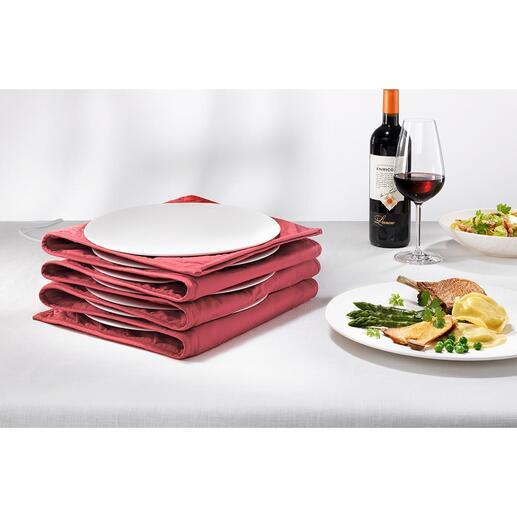 Tellerwärmer Mit heisser Essfläche und handwarmen Rändern. Jetzt für bis zu 12 grosse Pasta- und Menüteller.