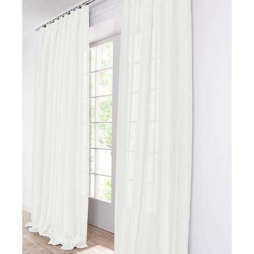 Vorhang Clio - 1 Stück, Creme Aussergewöhnlich duftiges Doppelgewebe mit raffinierter Struktur.