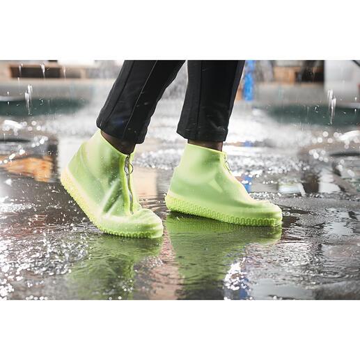 Regen-Überschuh Stylischer Nässeschutz für Ihre Lieblingsschuhe. Aus transparentem Silikon. In coolem Sneaker-Look.