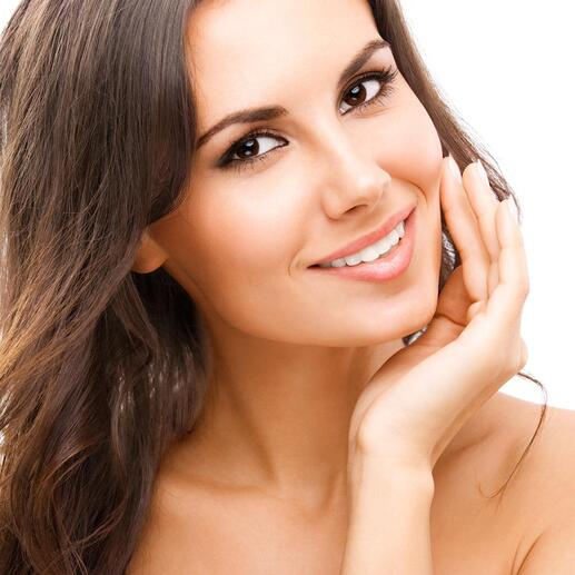 Ein optischer Aufheller lässt Ihre Zähne augenblicklich weisser scheinen.
