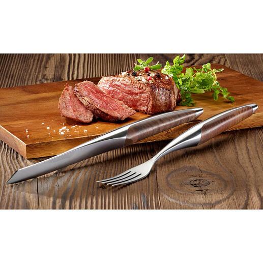 sknifeSteakbesteck oder Steakmesser,2er-Set Das Steakbesteck berühmter 3-Sterne-Restaurants – jetzt auch für Ihr Zuhause.