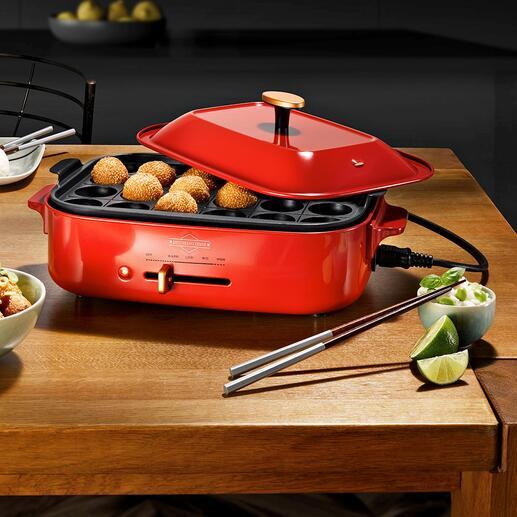 Tischgrill-/Multi-Bräter Grillen, Braten, Kochen, Dampfgaren, ... mit nur einem eleganten Tischgerät.