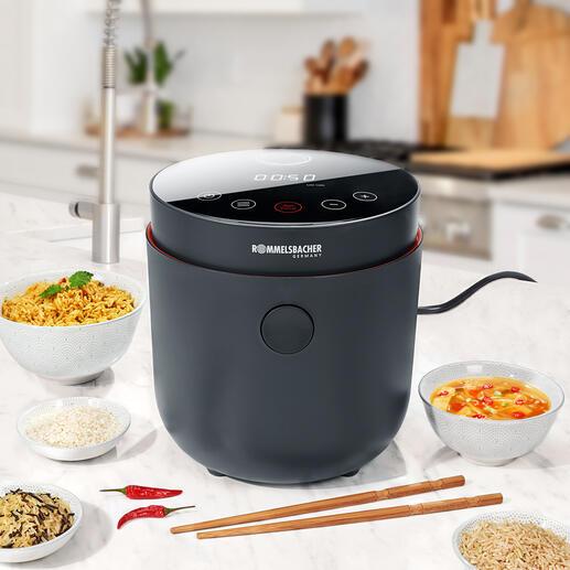 LowCarbReiskocher Einzigartig: der Reiskocher mit Low Carb-Funktion. Spart bis zu 33 % Kohlenhydrate. Qualität von Rommelsbacher.