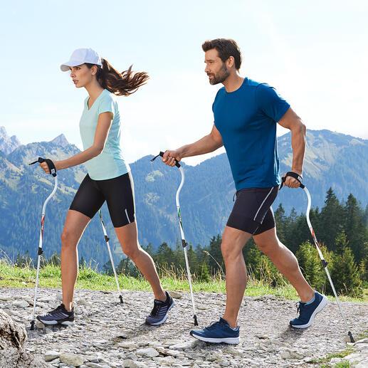 Ergocurve Walkingstöcke Laufstöcke neuester Generation: Unterstützten den natürlichen Bewegungsablauf beim Walken, Wandern, Gehen, Spazieren, ...