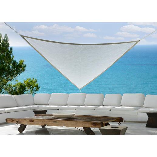 Sonnensegel Wetterfestes Soft-Tyvek® schirmt Sie ab vor grellem Sonnenlicht, ist UV-beständig und extrem robust. Hergestellt in Deutschland.