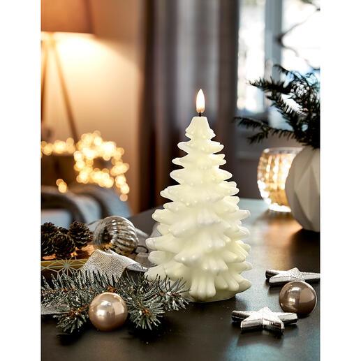 UYUNI Lighting LED-Kerze Tannenbaum Die Tannenbaumkerze mit täuschend echter Flamme – inszeniert von 12 Mikro-LEDs.
