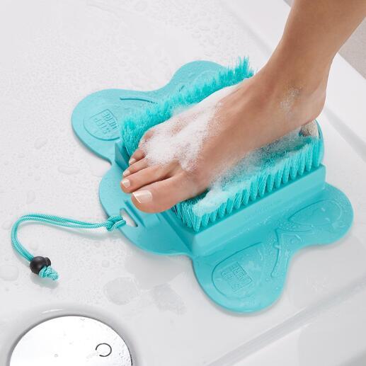 Fusspflege-Bürste Saubere und seidenglatte Füsse, ohne Bücken und Verrenken. Für Dusche und Badewanne. Mit Saugnäpfen bequem zu fixieren.