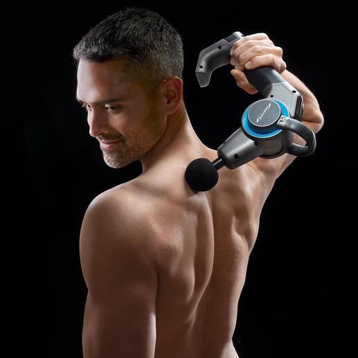 Perkussions-Massagepistole mit Schwenkarm