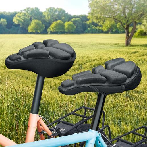 SoftAirSeat Bike Schluss mit Sitzschmerz auf dem Fahrrad. Der luftgepolsterte Sattelüberzug dämpft den Druck und federt Stösse ab.