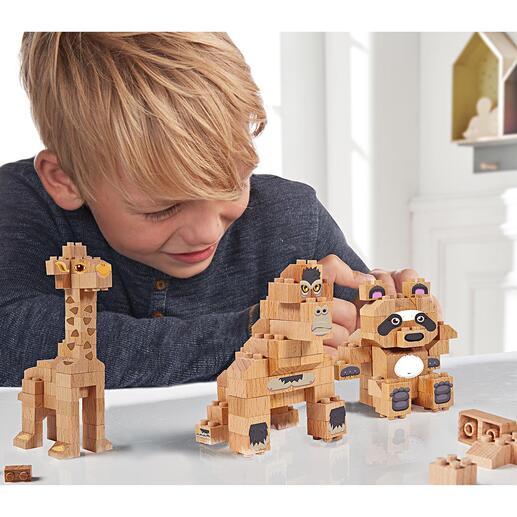 Bausteine aus Massivholz Für Panda, Giraffe, Gorilla oder freies Bauen: die Baustein-Sets aus Buchenholz. Nachhaltiger Spielspass.