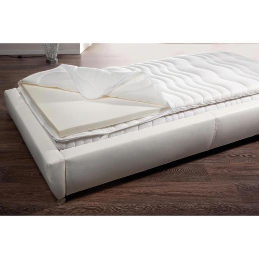 Visco-Matratzenauflage - Sie geniessen wohltuende Druckentlastung. Und schützen Ihre teure Matratze vor Verschmutzung, Keim- und Milbenbefall.