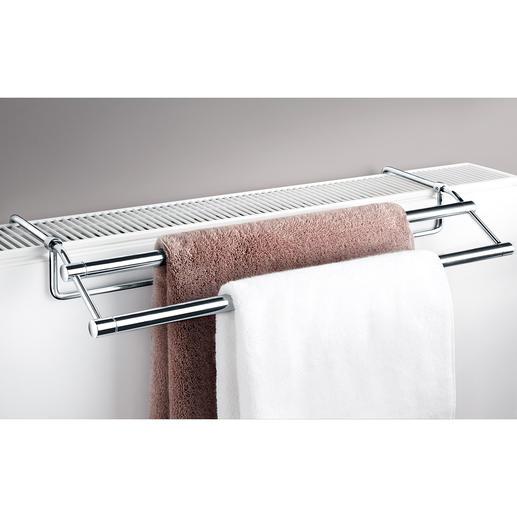 Handtuchtrockner für Heizkörper Passt auf nahezu jede Heizung. Kein Bohren, kein Schrauben, keine Montage. Ideal für Bad und Küche.