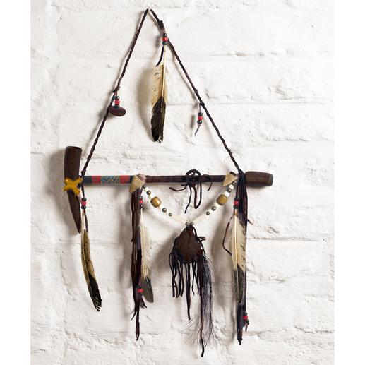 Navajo Friedenspfeife - Aus den traditionellen Naturmaterialien von Navajos handgefertigt. Jede ein Unikat. Mit Echtheits-Zertifikat.
