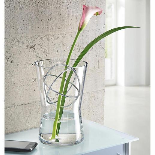 Glasvase mit Dekosphäre Langstielige Blumenarrangements, üppige Sträusse, … – immer die perfekte Vase.