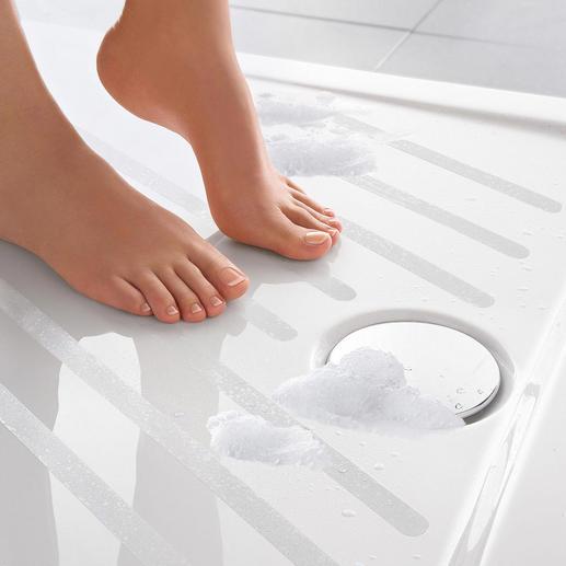 Satho® Rutschschutz-Streifen, 10er-Set - Selbstklebend. Fast unsichtbar – passend zu jeder Badausstattung.
