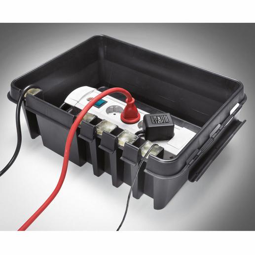 5 geschmeidige Silikon-Inlays dichten den Kabeleinlass und die 4 Auslässe sicher ab.