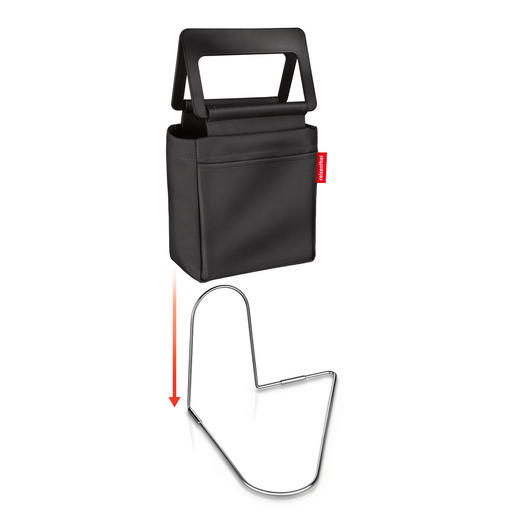 Dank genialem Fussbügel bleibt diese praktische Tasche auch bei rasanter Fahrt am Platz.