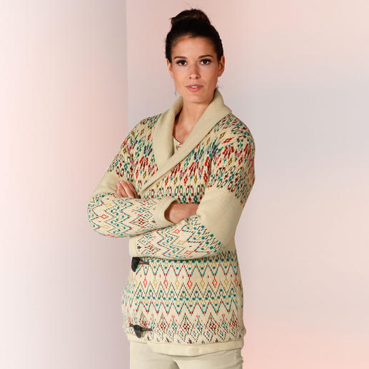 Paul & Joe® Sister Strick-Dufflecoat - Der gestrickte Dufflecoat verbindet modische Muster und aktuelle Farbtöne.