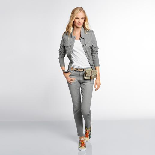 """Joe's Jeans oder Jeansjacke """"Light Grey"""" - Mit Light Grey Denim mal wieder der Mode voraus: Joe's Jeans. Das Trendlabel aus L. A."""