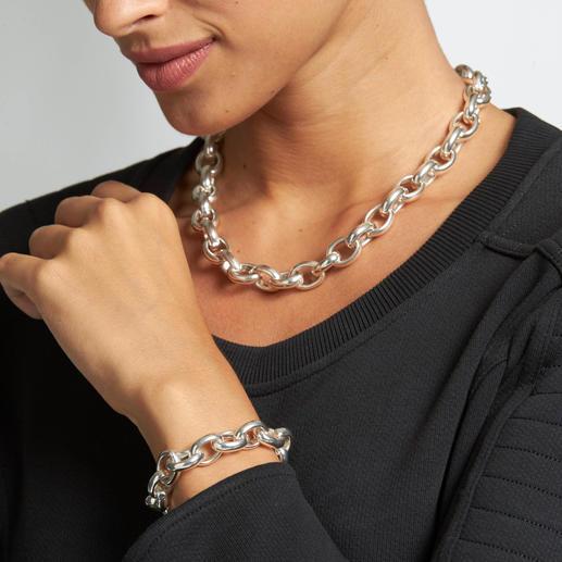 Ankerarmband oder -kette Imposante Grösse, massives Sterlingsilber: die Edel-Version angesagter Ankerketten.