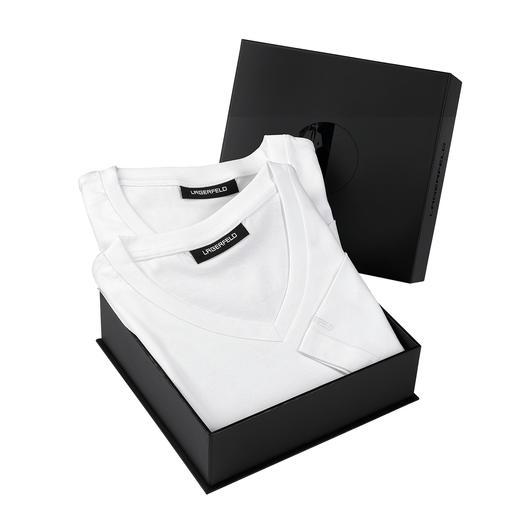 Lagerfeld Basic-Shirts 2er-Set Das ideale Basic-Shirt: Puristisch schwarz oder weiss. Schlank geschnitten.