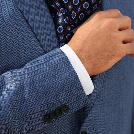 Di Pray Fischgrat-Seidensakko Ideal im Sommer: Das Sakko aus reiner Seide. Seine dezenten Farben passen zu allen Unis.