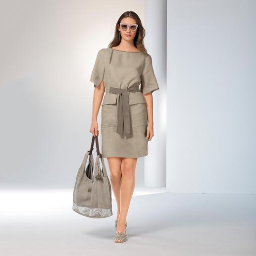 Les Copains Couture-Schürzenkleid Trend-Style Schürzenkleid: Bei Les Copains mit Couture-Charakter und aus edlem Leinen.