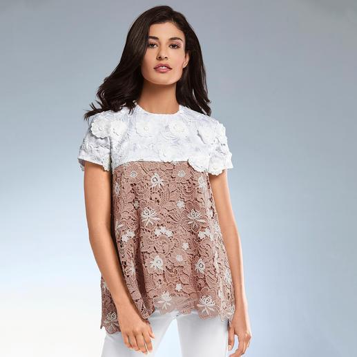 SLY010 Couture-Spitzen-Shirt Sportive A-Linie – couturige Spitze. Bei SLY010 verschmelzen Athleisure- und New Romance-Trend.