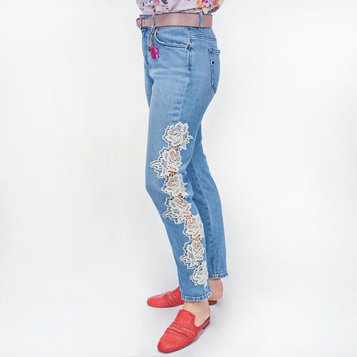 TWINSET Spitzen-Jeans Denim trendgerecht gepimpt – vom Experten für Spitze: TWINSET.