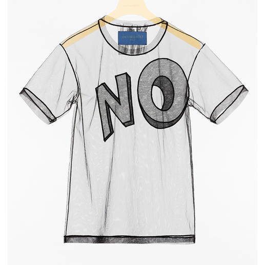 Viktor & Rolf Statement-Shirt Klares Fashion-Statement: Das transparente Slogan-Shirt von Viktor & Rolf.