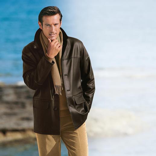 Elchlederjacke Zeitlos schöne Jacke aus seltenem Elchleder.