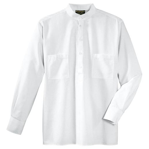 Nehru-Hemd, Baumwolle Hollingtons original Stehkragenhemd.