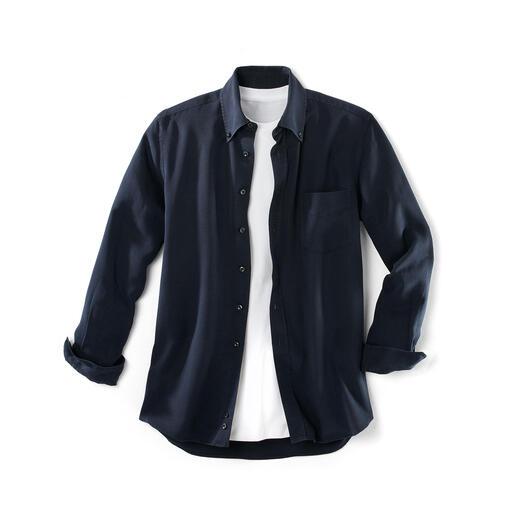 """Tencel®-Denim-Shirt Dieses """"Jeans""""-Hemd lieben Sie an heissen und an kalten Tagen. Viel weicher als Denim. Viel lässiger als ein gewöhnliches Oberhemd."""