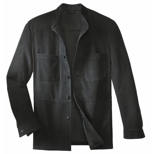 Eine solide Lederjacke - so leicht wie ein Hemd. Seltenes Rentierkalbleder aus Kokkola, Finnland. Wiegt nur 650 Gramm.