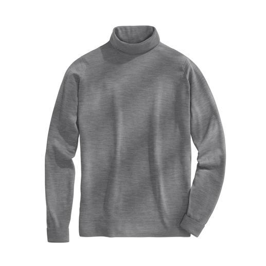 Rollkragen-Pullover, Grau